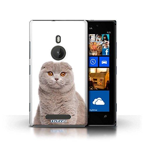 Kobalt® Imprimé Etui / Coque pour Nokia Lumia 925 / Sibérien conception / Série Espèces de chats Scottish Fold
