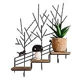 YOUjU YX Shop® Eisen Retro Alte Holztreppe Speicherregal Wandregal Kreative Heimat Dekorativen Rahmen *