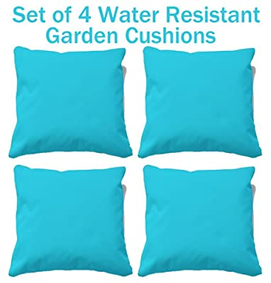 Set of 4 water resistant cushions, garden cushions, outdoor cushions perfect for indoors or outdoors produced by Beautiful beanbags Ltd - quick delivery from UK.