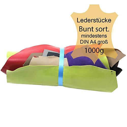 Not-leder-schuhe (Langlauf Schuhbedarf ® Lederstücke mittel 1 kg bunt - farblich gemischt - alle Stücke Mind. DIN A4)