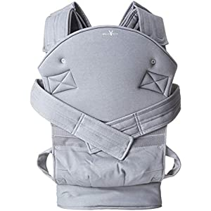 Wallaboo Baby carrier Ease, Hig Quality, Easy Adjustable and Ergonomic Front Carrier, 2 carrying poitions, Strong 100% cotton, Newborn 8lbs to 33lbs, Colour: Grey   12
