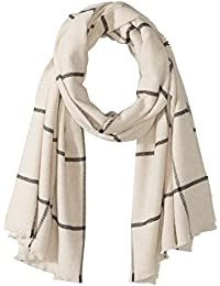 French Connection Women's Window Pane Check Scarf