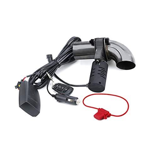 Dailyinshop Valvola di Scarico CNSPEED Silenziatore Kit di Scarico valvola di Scarico elettrica Set di valvole per Auto Telecomando Senza Fili (Colore: Argento)