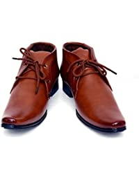 AXONZA Brown Synthetic Leather Office Wear+Party Wear Lace Up Formal Shoes Lace Up For Men  (Brown) - B07DKCFBDX