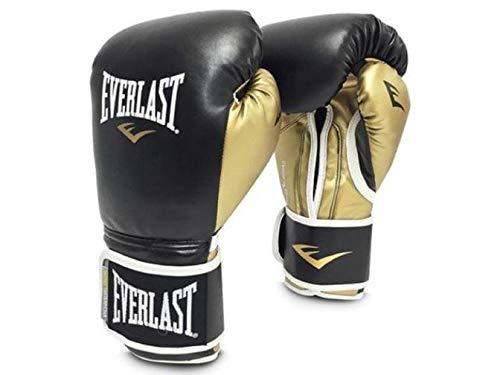 Everlast P00000723-12 Leather Training Boxing Gloves, Large (Black)