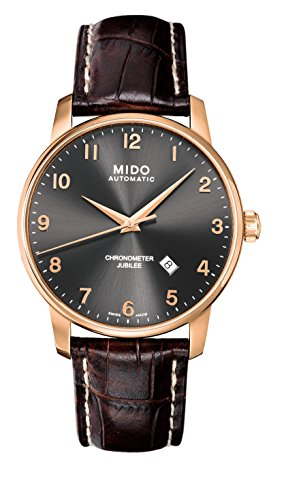 Mido m86903138 – Wristwatch men's, Leather Strap Brown