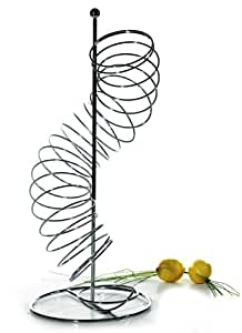 Corbeille à fruits toboggan chromé 20x20x48cm