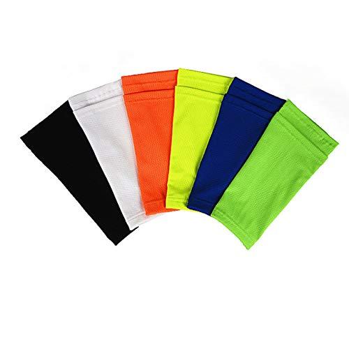Professionelle Fußball Schienbeinschoner Halter Sport Rist Fuß Socken Atmungsaktive Nylon Fußball Schienbeinschoner Lock Sleeves (schwarz) DEjasnyfall -