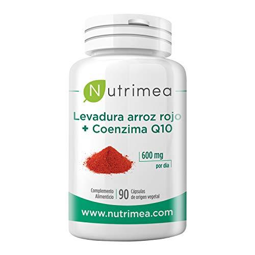 Levadura Roja de Arroz + Coenzima Q10 - Eficaz Reductor de Colesterol - Dosis Concentrada Natural - 100% Puro Monascus purpureus - Tratamiento de 3 meses 600 mg Gastro-Resistentes Origen Vegetal - Fabricado en Francia