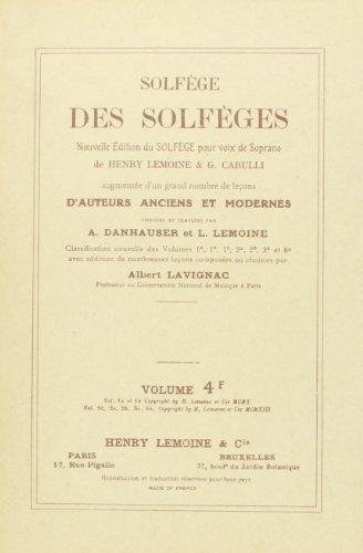 Solfège des Solfèges Volume 4F sans accompagnement
