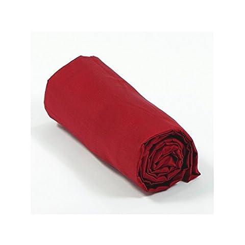 Drap housse satin 80x200 bonnet 30 cm - Couleur: Rouge