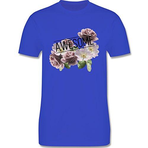 Statement Shirts - Awesome Blumen - Herren Premium T-Shirt Royalblau