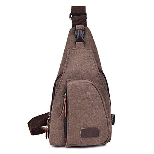 BULAGE Pack Brusttaschen Lässig Männer Sport Leinwand Multifunktionales Im Freien Rucksack Atmosphäre Jian Jie Und Bequem Brown