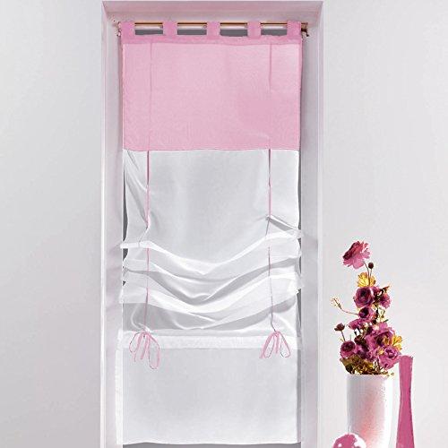 Eminza Estor Visillo Derecho (60 cm) Bicolor Rosa Peladilla
