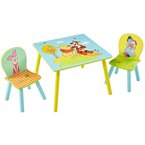 TW24 Disney Kindersitzgruppe - Kindertisch - Kinderstuhl - Sitzgruppe Kinder - Winnie The Pooh