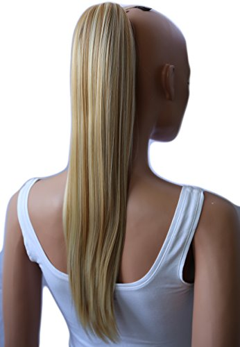 Prettyshop parrucchino, coda di cavallo, le estensioni dei capelli, resistente al calore e liscio 50 cm bionda mix # 27h613 h155
