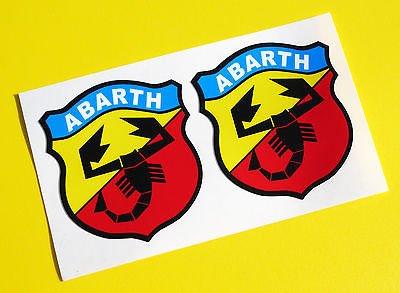 Abarth-logo (Fiat Abarth Vintage Classic style logo sticker aufkleber punto 500)