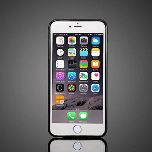PU-lederner rückseitiger Abdeckungs-Fall mit Einbauschlitzen für IPhone 6 u. 6s ( Color : Black ) Black