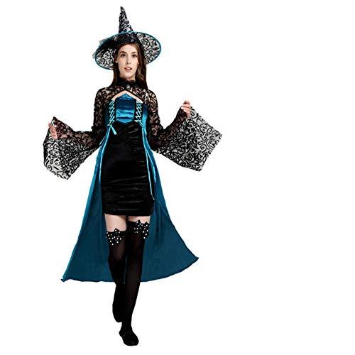 WHFDRHWSJFZ SportingGoods Prom Halloween Skelett KostümHalloween Kostüm Cosplay Erwachsenen Hexe Hexe Kostüm spielt Halloween Elegante Hexe Kostüm, Einheitsgröße