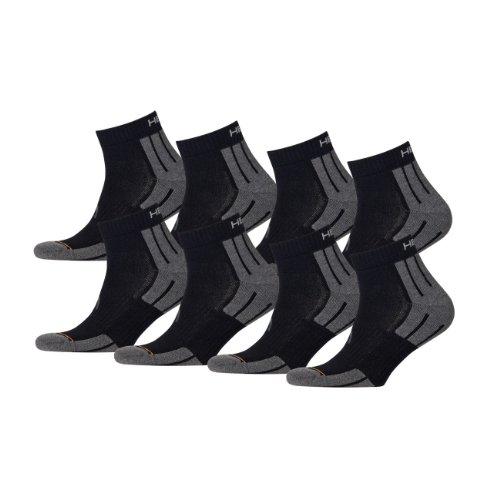 Gepolsterte Sport Quarter Socken (HEAD Unisex Performance Quarter 741018001Sportsocken 8er Pack)