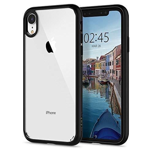 """Spigen Ultra Hybrid 064CS24874 - Funda iPhone XR, Tecnología de cojín de aire y protección híbrida de la caída para iPhone XR 6.1"""" (2018), Negro Mate"""