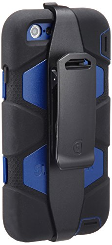 Griffin Survivor All Terrain Schutzhülle Case für Apple iPhone 6/6s - Schwarz/Blau (Griffin Iphone Holster)