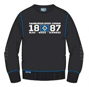 HSV Hamburger SV Kids Sweatshirt schwarz Gr. 140 Kinder Pullover Kindersweatshirt