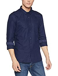 VOI Jeans Men's Solid Slim Fit Cotton Casual Shirt