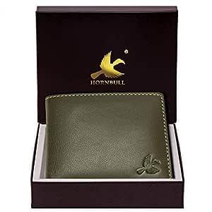 HORNBULL Maddison Men's Olive Green Genuine Leather Wallet