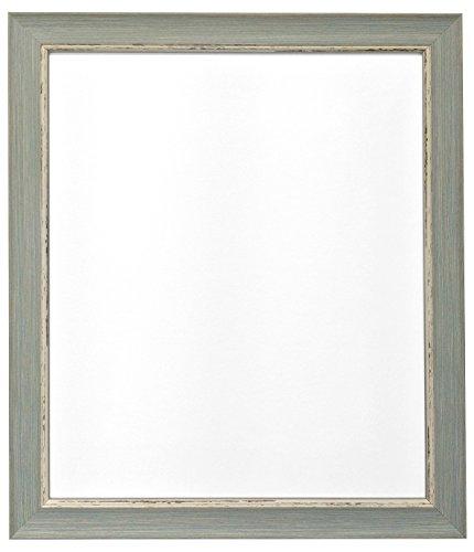 Frames by Post 45 x 30 cm Nordic Bild-/Fotorahmen im Antique-Look mit Glasscheibe, blau -