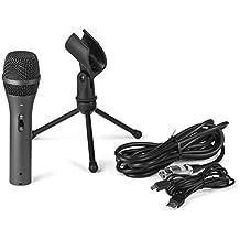 Knox cardioide dinámico micrófono de grabación/XLR USB y Gaming con Jack de auriculares