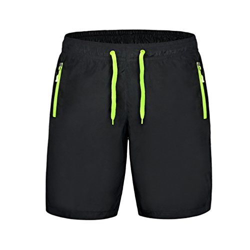 Byqny Sports Shorts with Pockets Running Gym Workout Fitness Training Shorts Summer Casual Sport Stretch Waist Shorts with Drawstring