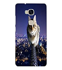 HUAWEI HONOR 5X CAT Back Cover by PRINTSWAG