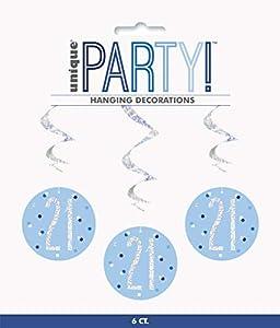 Unique Party- Adornos, Color blue & silver (83797)