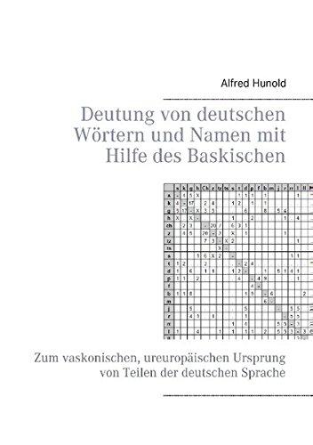 Deutung von deutschen Wörtern und Namen mit Hilfe des Baskischen: Zum vaskonischen, ureuropäischen Ursprung von Teilen der deutschen Sprache