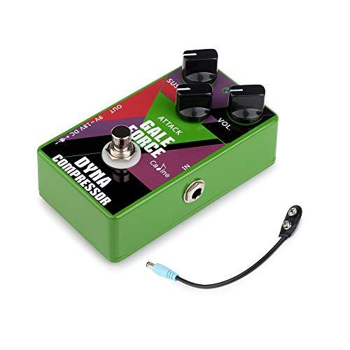 Festnight Guitarra Compress Efecto Pedale Cable Batería