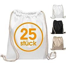 6fc28ebd3000a Baumwoll Turnbeutel 25 Stück 38 x 42cm Sportbeutel - Rucksack Stofftasche  Bag