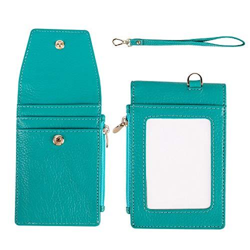 f7c4f502ea Porta Carte di Credito, Portafoglio Sottile da Viaggio in Pelle con  Portamonete, Blocco RFID