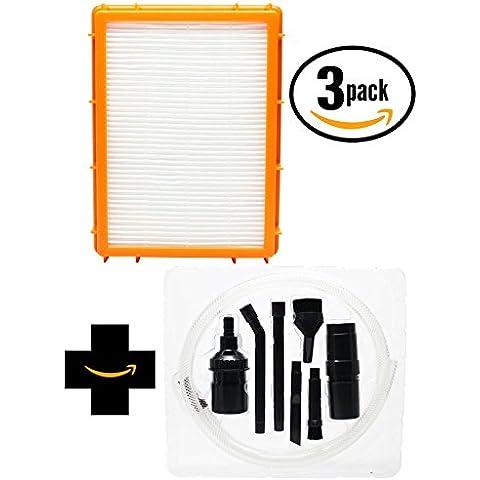 Kit sostituzione filtro HEPA aspirapolvere Eureka 4870ATV con 7Micro–Kit di fissaggio, compatibile Eureka HF-2Filtro HEPA