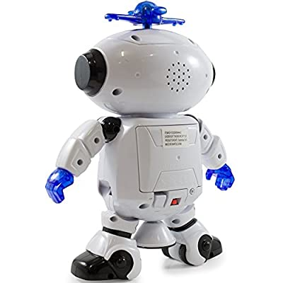 Riroad Electronic Walking Dancing Smart Space Robot Astronaut Kids Music Light Toys, Smart Robot kit - cheap UK light store.
