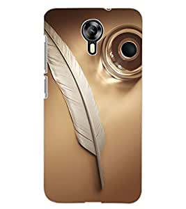 ColourCraft Feather Design Back Case Cover for MICROMAX CANVAS XPRESS 2 E313