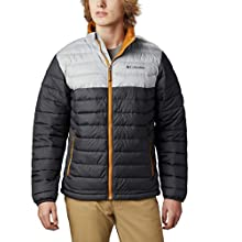 Columbia Men's Jacket, Powder Lite, Shark, Columbia Grey, Medium
