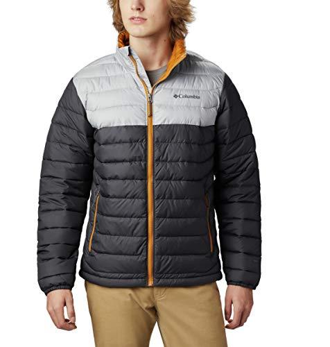 Columbia Powder Lite Jacket Chaqueta, Hombre, Negro Shark Grey, M