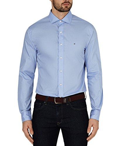 Tommy Hilfiger Shirt Big Man's Business Smart und leger 44.45 (cm/127.00 cm Brust), Motiv 90 Mehrfarbig - Perriwinkle (Sky)