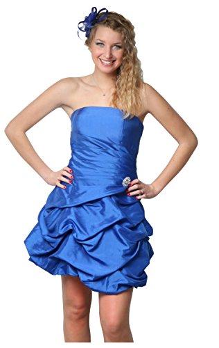 ROBLORA Robe De Cérémonie Soirée Cocktail Mariage Robe Demoiselle D'honneur bustier courte Dress 12 (40, Bleu roi)