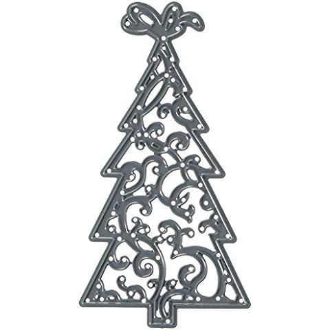 Darice 2014–44–Fustelle, albero di Natale, metallo, nero,