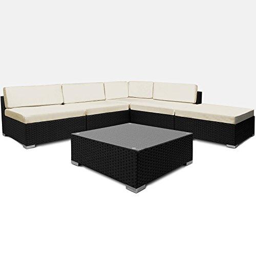 16tlg PolyRattan Lounge Set XXL Sitzkissen Sitzgarnitur Sitzgruppe Gartenmöbel Gartengarnitur Garten Rattan