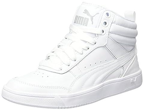 Puma Rebound Street V2 L Jr, Sneakers Basses Mixte Enfant, Blanc (White-White), 39 EU