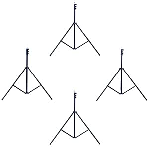 Phot-R Professional Photography 4x 3m Adjustable 3-Section Photo Studio Heavy Duty Aluminium Light Stand
