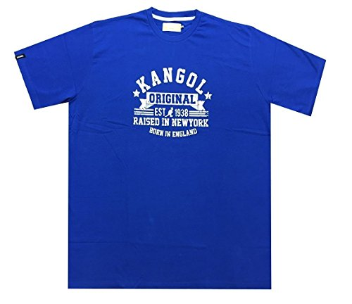 KANGOL Herren Pure Baumwolle Bedruckte T-Shirt (Kapri) größen 2XL bis 5XL, 4 Farben Optionen Marineblau